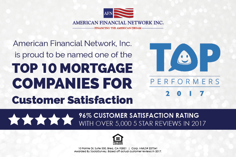 AFN Awarded Top 10 Customer Satisfaction By SocialSurvey